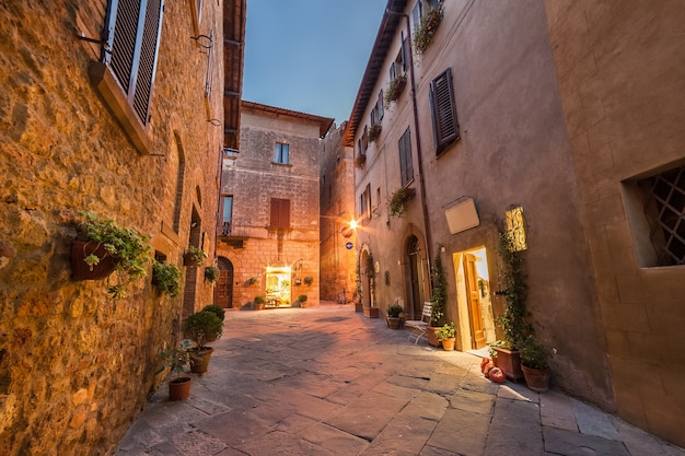 Vieille ville d'italie, pienza, toscane