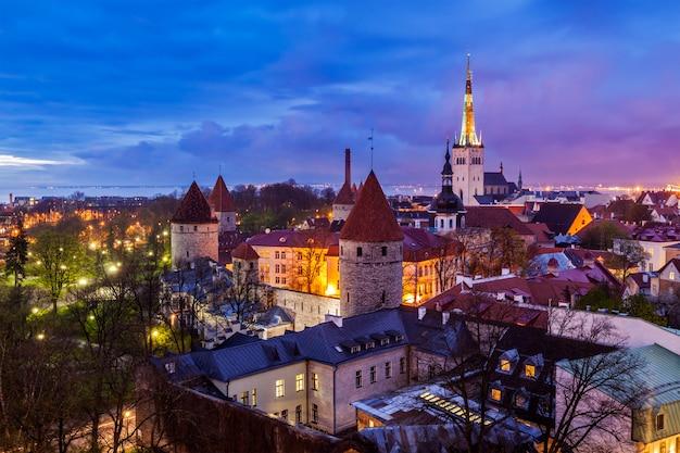 La vieille ville médiévale de tallinn, estonie
