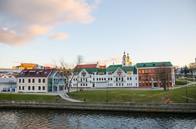Vieille ville pittoresque à minsk