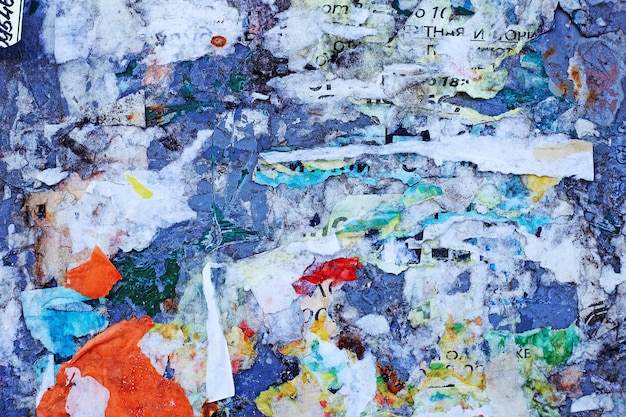 Vieilles affiches. affiches déchirées. papier déchiré
