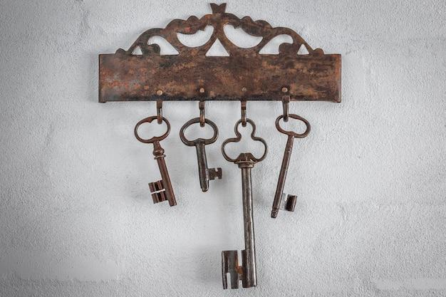 Vieilles clés rouillées