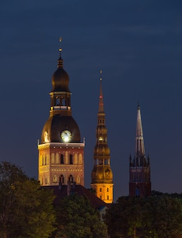 Vieilles églises à riga, lettonie