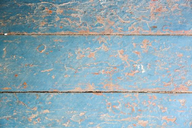 Vieilles planches de bois peintes en bleu et beige vintage. texture de fond rustique.