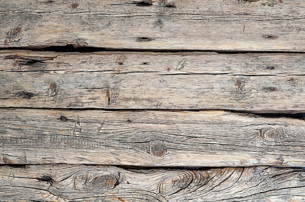 Vieilles planches de bois rustiques horizontales