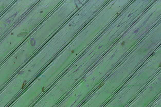 Vieilles planches vertes texture diagonale vieux fond en bois