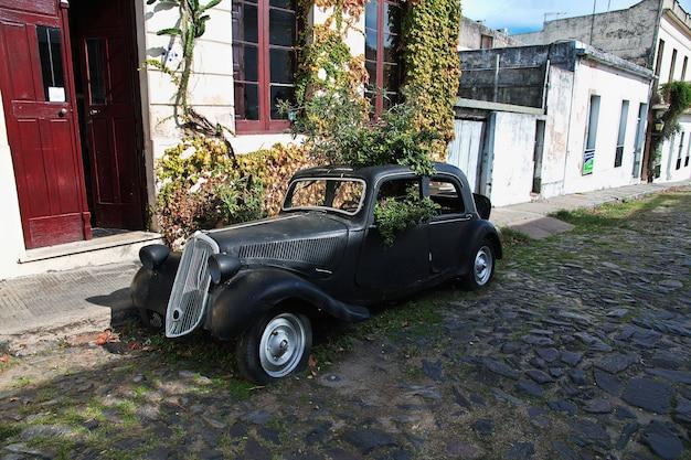 Vieilles voitures à colonia del sacramento, uruguay