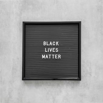 Les vies noires comptent avec le cadre
