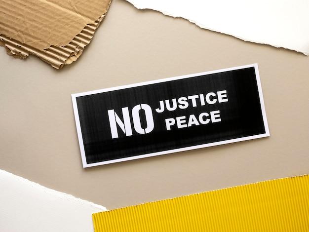 Les vies noires comptent le concept de justice