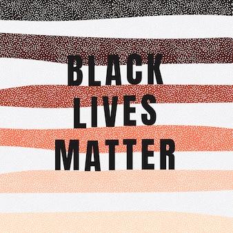Les vies noires comptent avec une publication sur les réseaux sociaux à fond rayé coloré