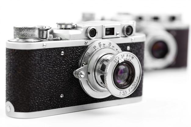 Vieux appareils photo mécaniques