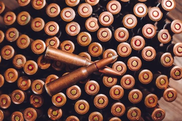Vieux balles de 7,62 mm gros plan