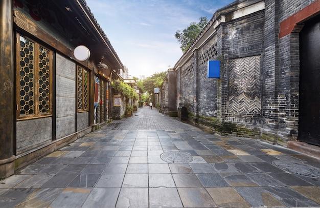 Vieux bâtiments dans l'allée kuan et l'allée zhai, chengdu, sichuan