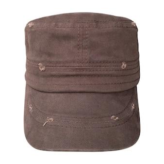Vieux bonnet isolé. casquettes de baseball de style militaire.