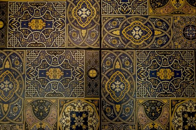 Vieux carreaux marocains en arrière-plan
