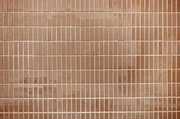 Vieux carrelage marron texture de fond de mur