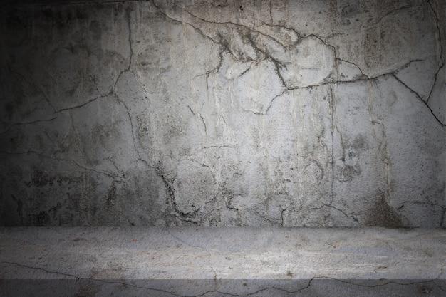 Vieux ciment gris fond de mur et plancher
