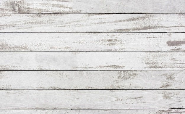 Vieux décoller la planche de bois peinture blanche fond de texture de surface