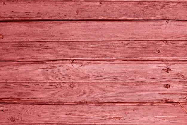Vieux fond en bois de couleur corail vivant rustique