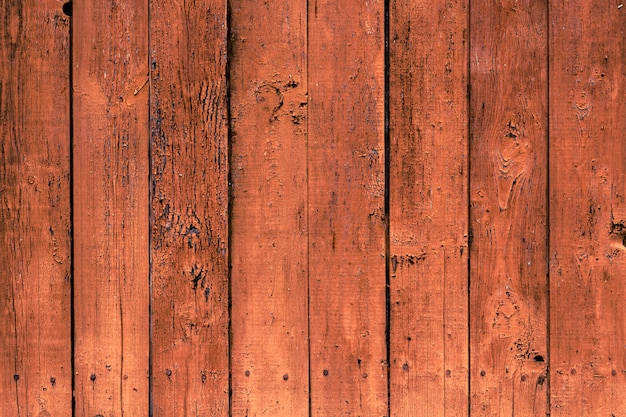 Vieux fond en bois avec des planches brunes verticales.