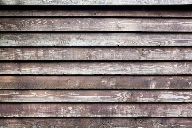 Vieux fond en bois avec des planches marron horizontales.
