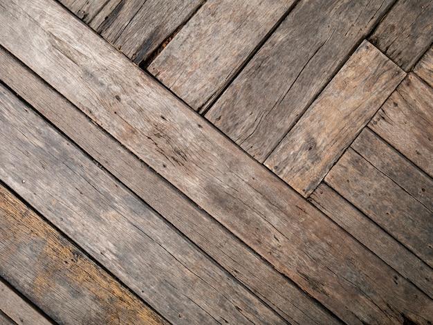 Vieux fond en bois texturé brun naturel vide, vue de dessus