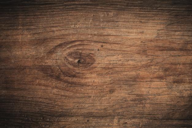 Vieux fond en bois texturé foncé grunge