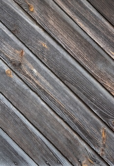 Vieux fond de bois texturé foncé, surface de la texture du vieux bois brun, vue de dessus, espace copie