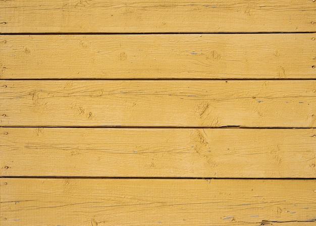 Vieux fond de bois texturé jaune, surface de la texture du bois ancien, vue de dessus, espace copie