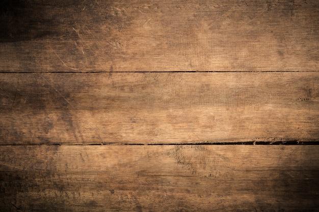 Vieux fond de bois texturé sombre grunge, la surface de la texture de bois brun ancien