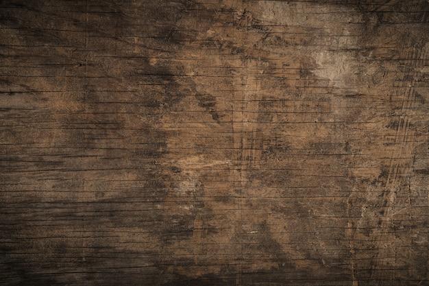 Vieux fond en bois texturé sombre grunge