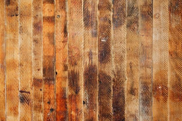 Vieux fond grunge vintage marron fait de planches de bois verticales.
