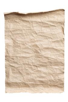 Vieux fond isolé de papier brun