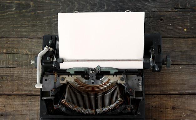 Vieux fond de machine à écrire