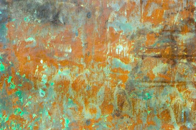 Vieux fond de métal rouillé endommagé. texture de fer rouillé