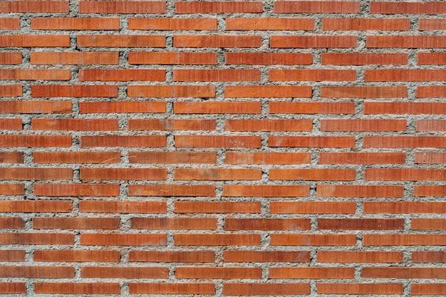 Vieux fond de mur de brique rouge, large panorama de maçonnerie