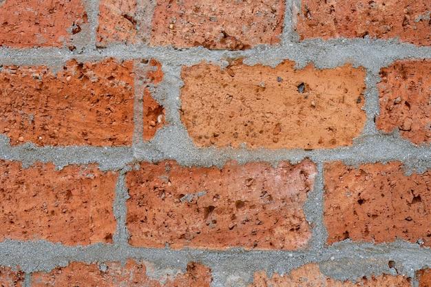 Vieux fond de mur de brique teinté patiné