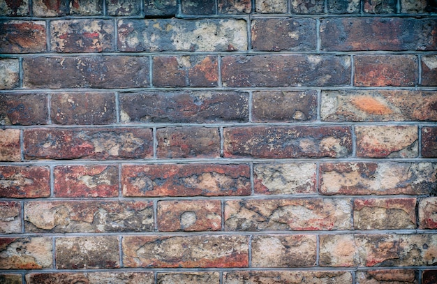 Vieux fond de mur de briques rouges