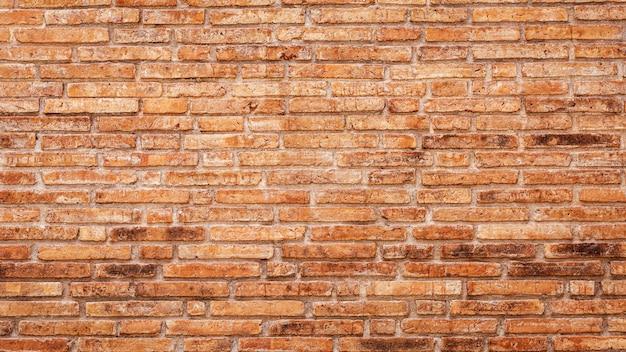 Vieux fond de mur de briques rouges.