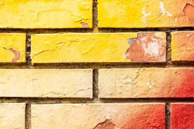 Vieux fond de mur de briques