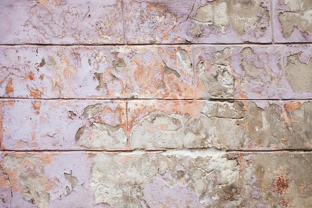 Vieux fond de mur fissuré