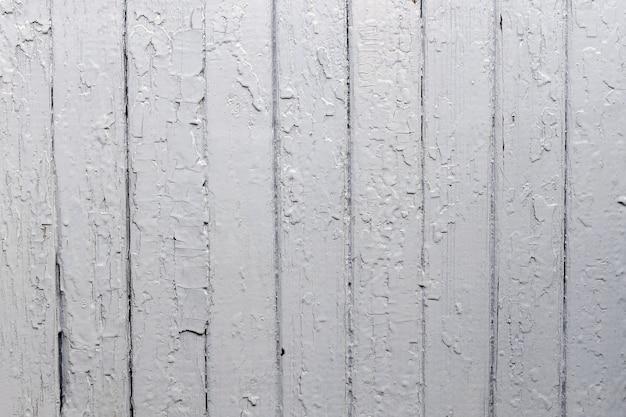 Vieux fond de mur de planches de bois peint en couleur grise patiné avec des motifs naturels