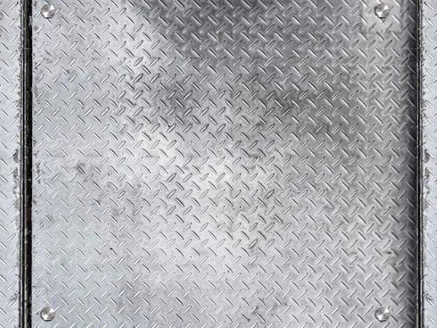 Vieux fond de mur de surface de plaque métallique.