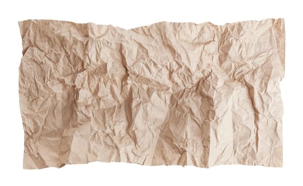 Vieux fond de papier froissé brun