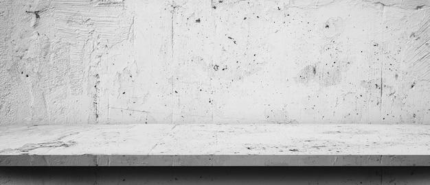 Vieux fond de plancher et de mur de ciment, intérieur de la pièce