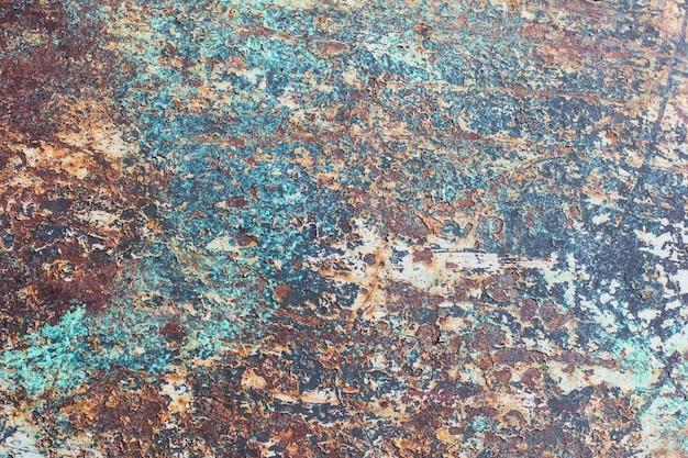 Vieux fond rouillé de feuille de métal, rouille sur la tôle d'acier patinée peinte