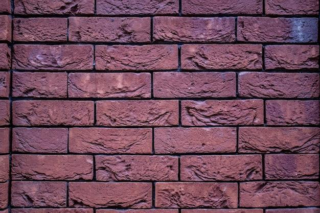 Vieux fond de texture horizontale de mur de brique rouge.