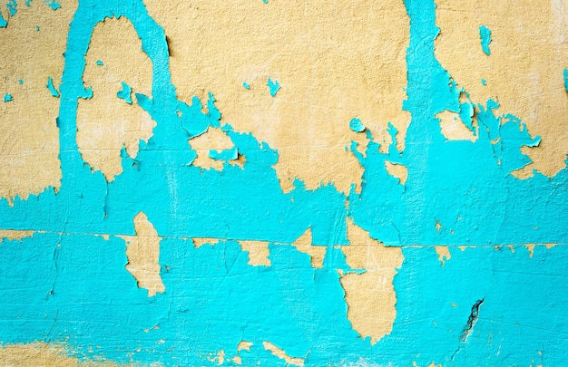 Vieux fond de texture de mur bleu peint