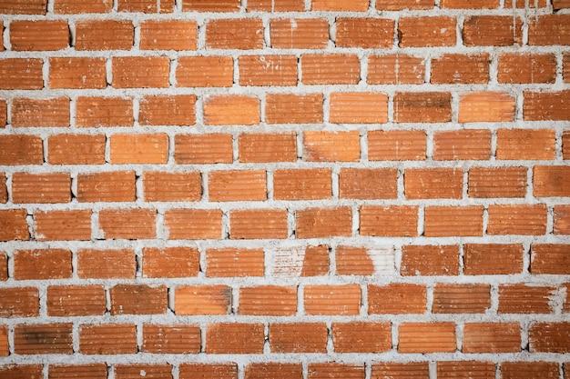 Vieux fond de texture de mur de brique rouge vintage