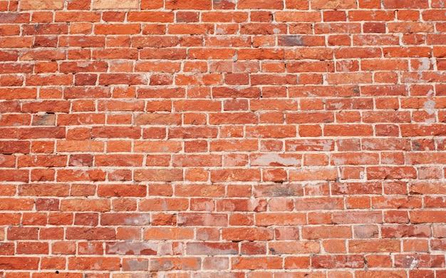Vieux fond de texture de mur de brique rouge