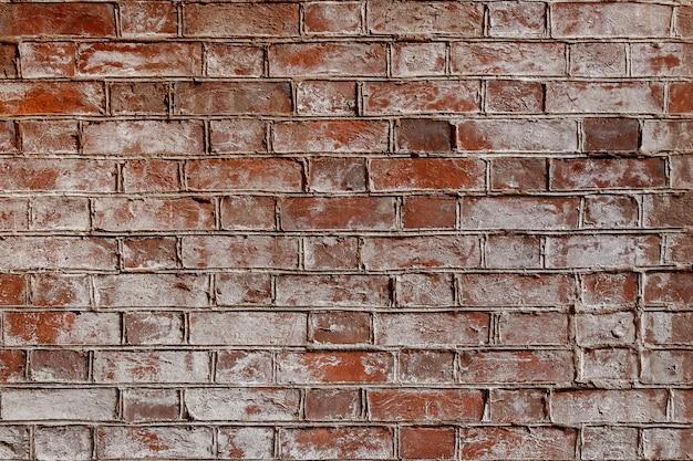 Vieux fond de texture de mur de briques usé rouge